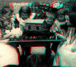 Gallery of 3-D Vintage Stereoviews featuring Children of the Olden Days
